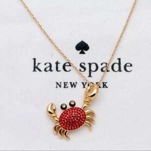 $68 Kate spade shore thing up gold crab necklace